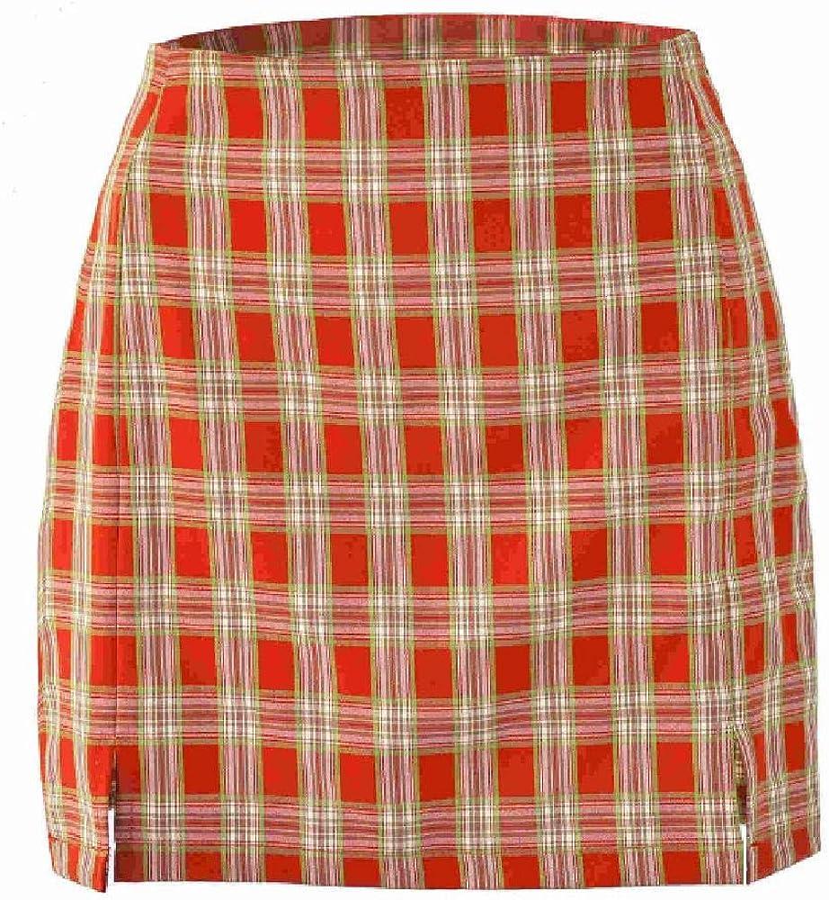 Nobrand Minifalda con Abertura Lateral a Cuadros de Cintura Alta Mujeres Medias Streetwear Casual A Line Faldas básicas para Mujer