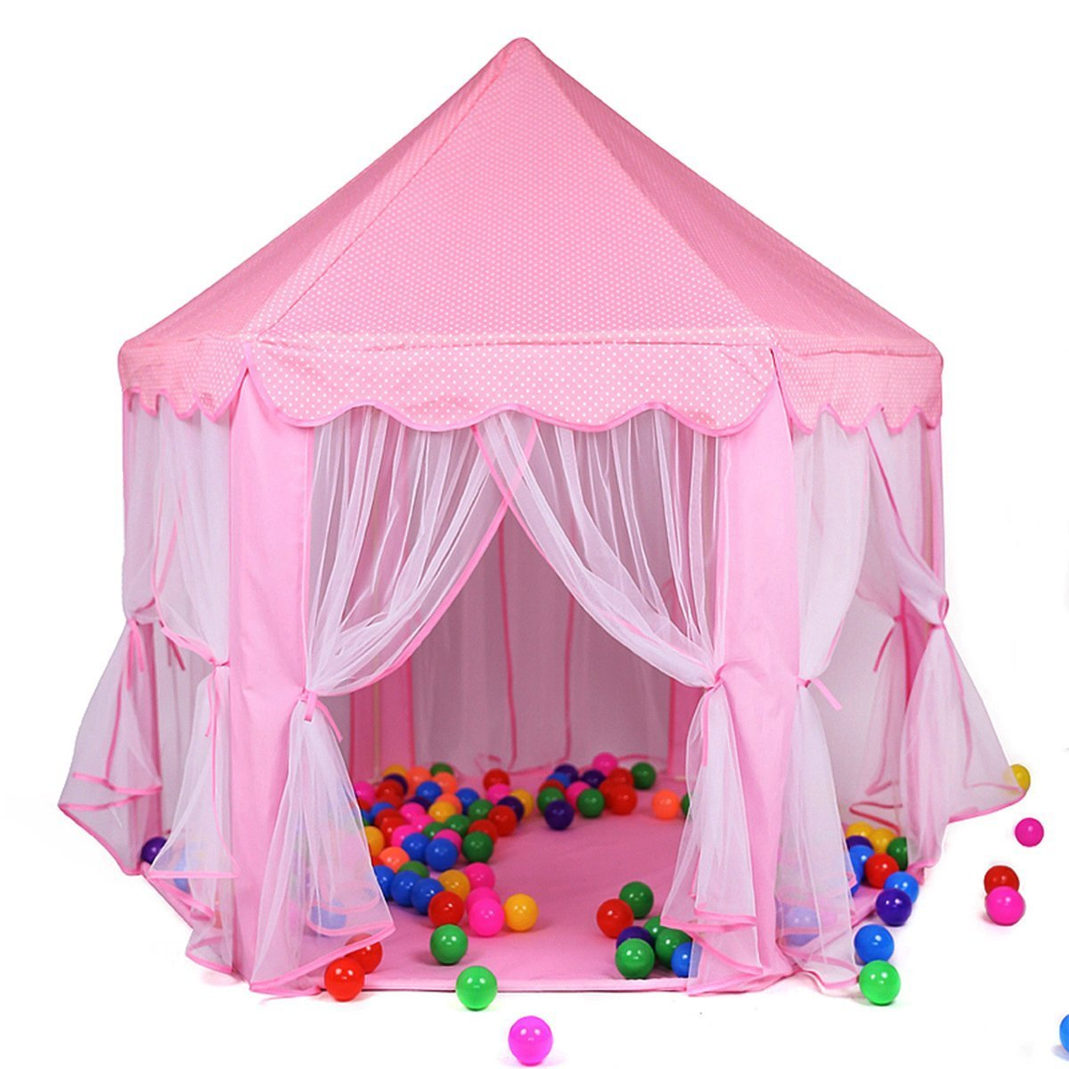 Newest Design Extra Large Room Garden Outdoor Indoor Playhouse,Large Playhouse For Kids Festival Fairy Princess Castle Tent for Girls Deluxe Kids Princess Children Play Castle Tent