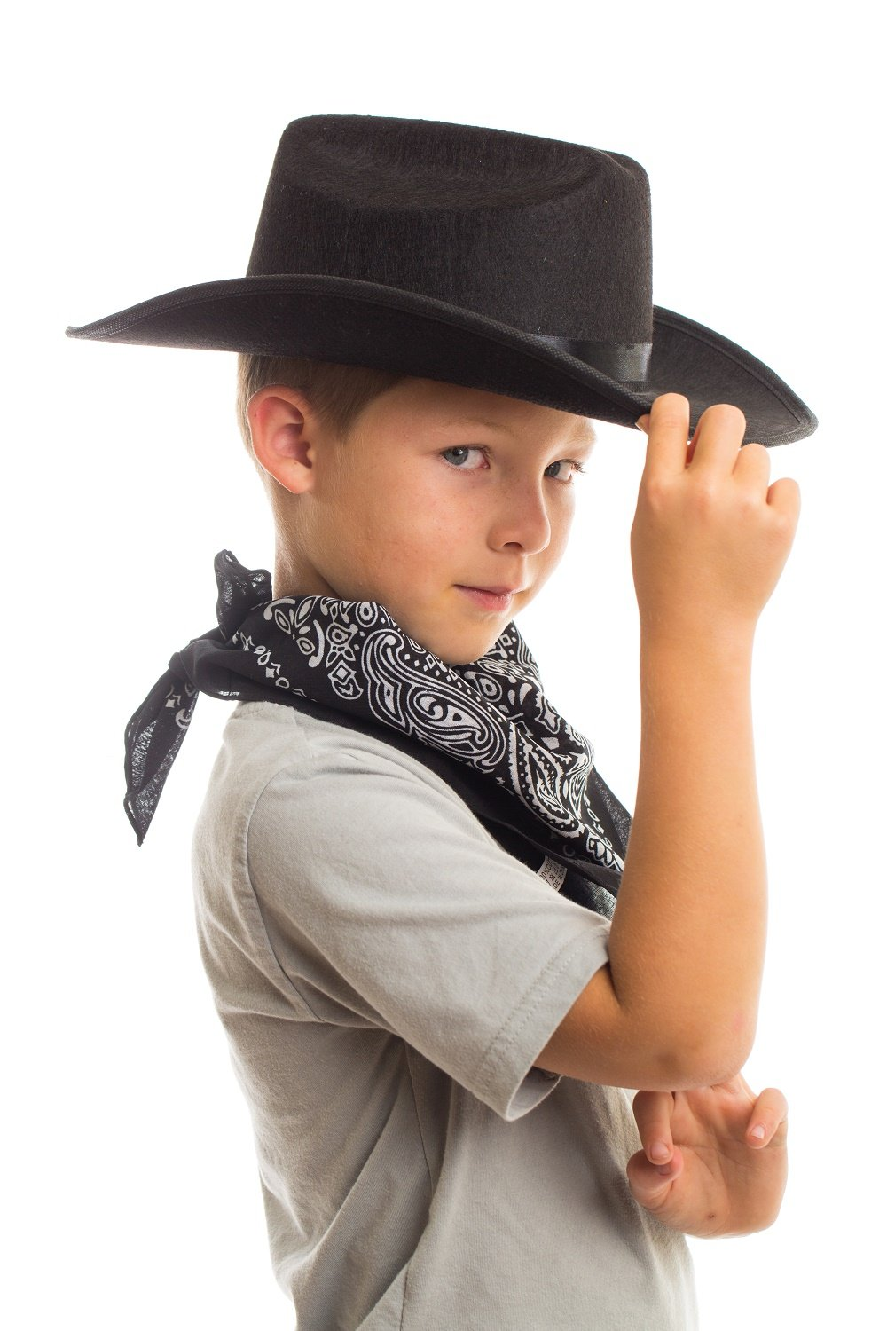 Amazon Aeromax Junior Cowboy Hat With Bandanna Black Toys Games