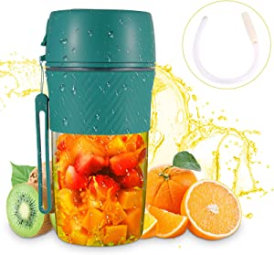 Portable Blender For Shakes And Smoothies With Reusable Straw Green Mini Blender Safety USB Rechargeable Personal Blender Cup Handheld Small Blender For Office,Sports,Travel,Gym Outdoor Actitvities 280ml Portable Blender