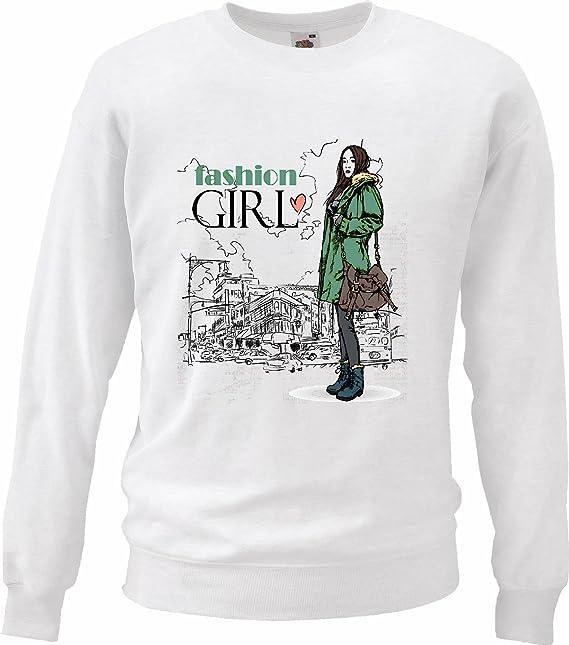 Sudaderas Suéter Muchacha DE Moda Belleza Encanta la Gente de New York Ropa de la Muchacha New York Boda del acontecimiento de EE.UU.