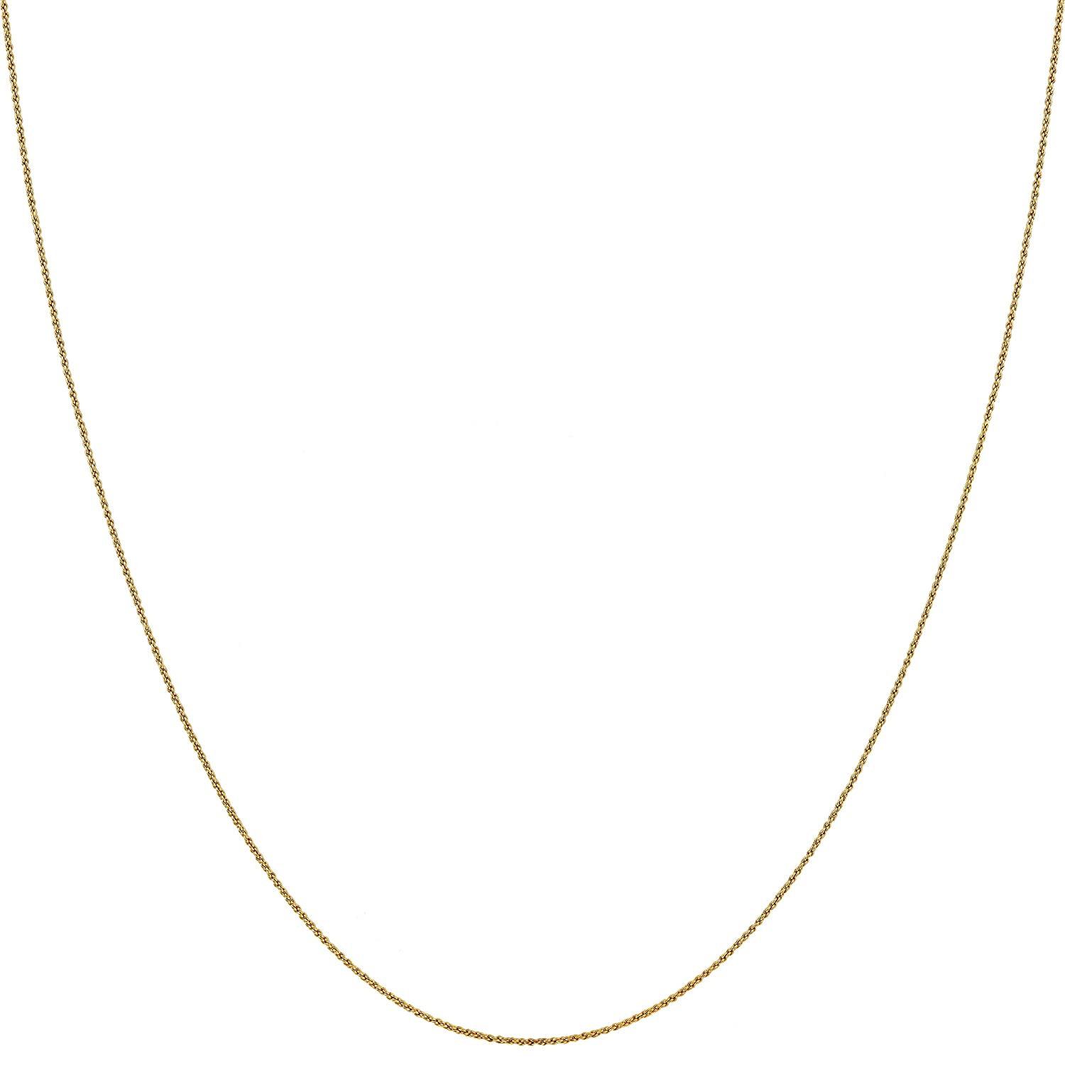 1MM Rope Chain, 24K Gold with Inlaid Bronze, Premium Fashion Jewelry,  Pendant Necklace