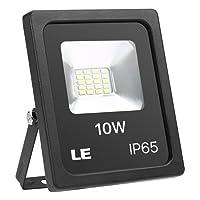 LE Lighting EVER Projecteur LED 10W, 800lm 5000K Blanc Froid, Etanche IP65, pour Eclairage Extérieur Terrasse Jardin Mur Scène Cour Parc
