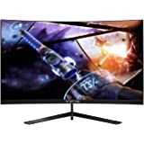 "Sceptre Curved 27"" 144Hz Gaming LED Monitor Frameless AMD Freesync Premium DisplayPort HDMI Build-in Speakers, Machine Black"