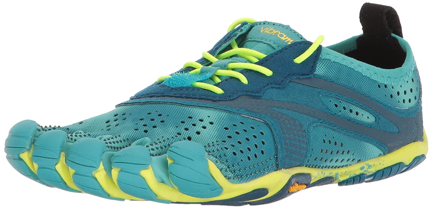 V-Train, Chaussures de Fitness, Violet (Pale Blue/Safety Yellow), 40 EUVibram Fivefingers