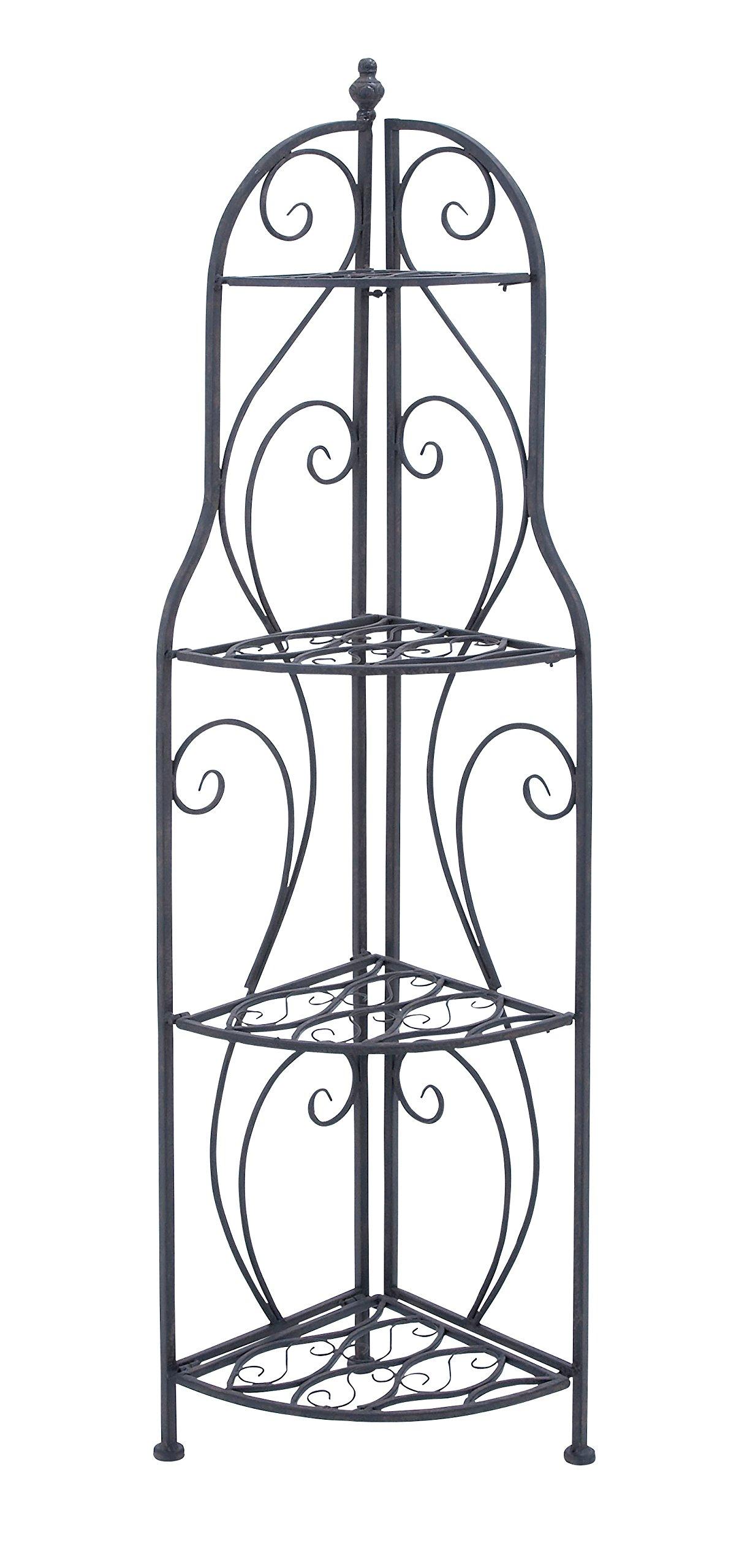 Deco 79 Metal Corner Rack Home Decor Product, 60''H/17''W by Deco 79