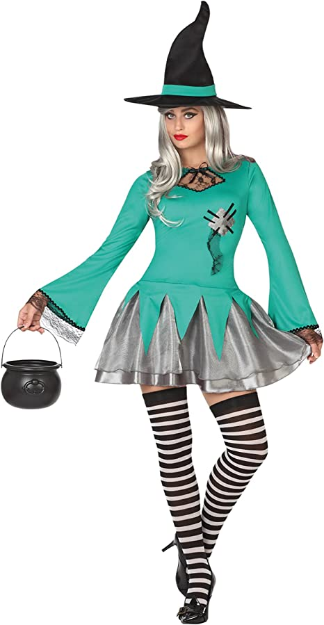 Atosa 26206 Disfraz bruja verde adulto M-L, talla mujer: Amazon.es ...