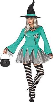 Atosa-26205 Disfraz Bruja para Mujer Adulto, Color Azul, XS-S ...