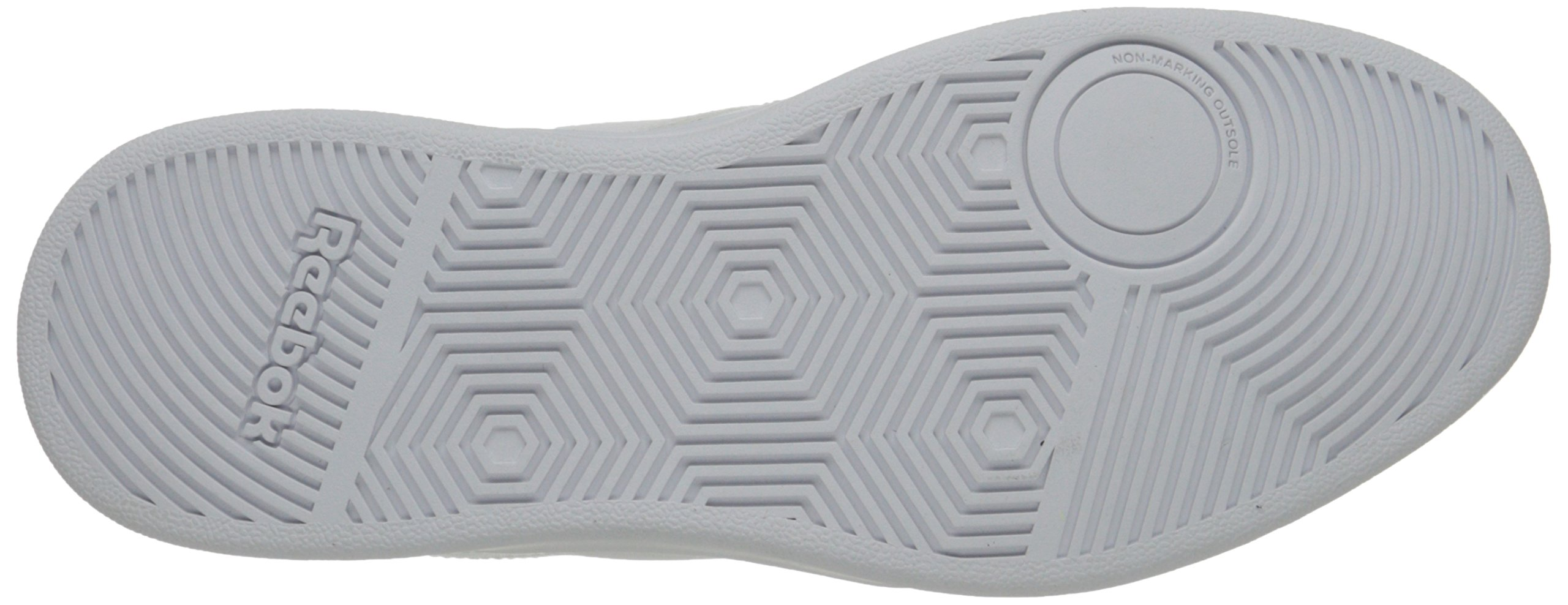 Reebok Men's Club Memt Fashion Sneaker, White/Steel, 11.5 4E US