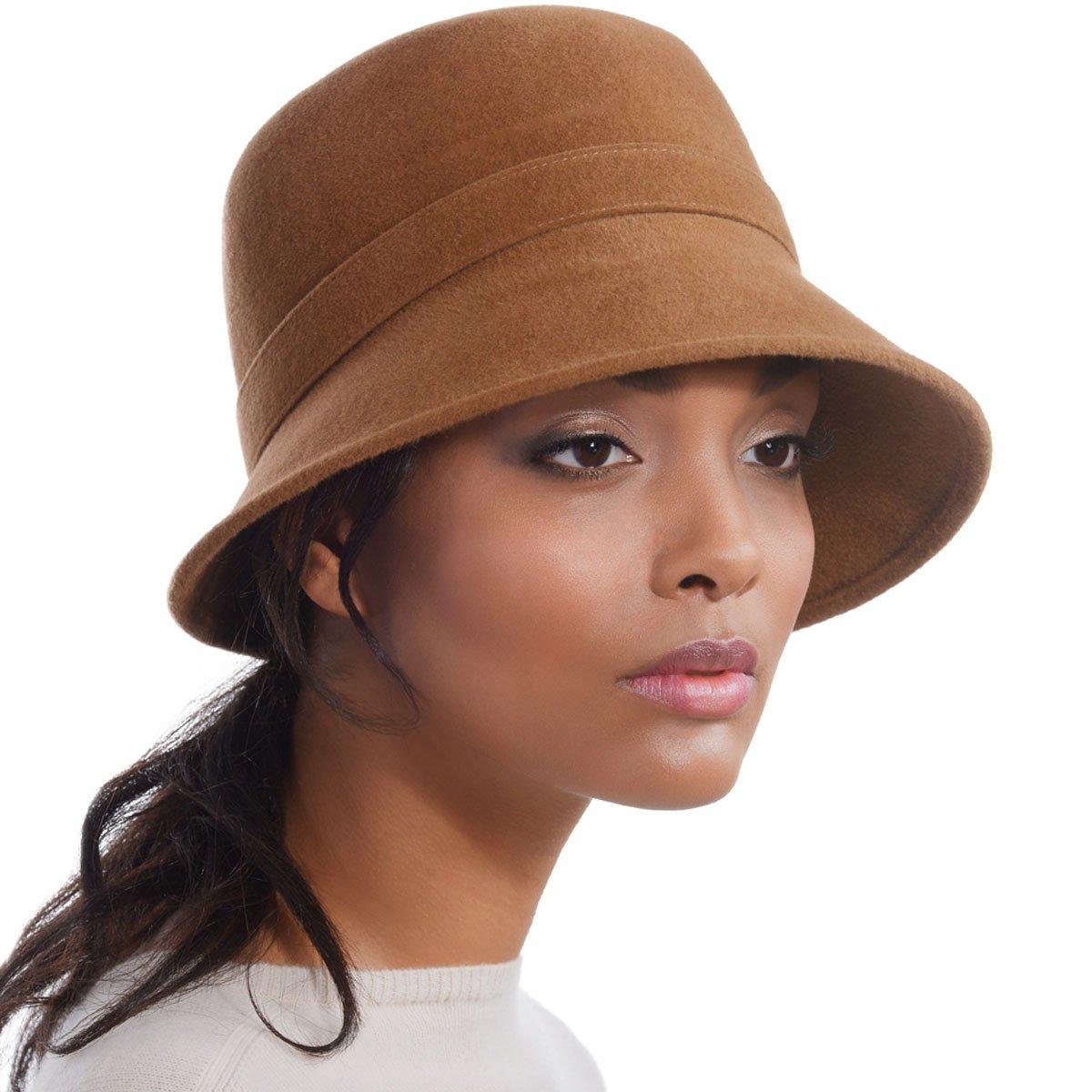 Eric Javits Luxury Designer Women's Fashion Headwear Hat - Hillary - Bronze