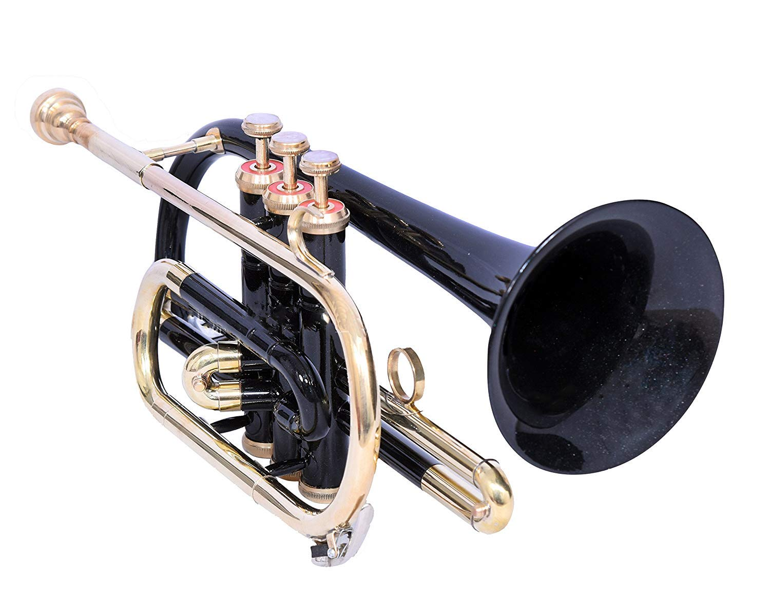 STUDENTS CORNET Bb PITCH BLACK WITH FREE CASE AND MOUTHPIECE