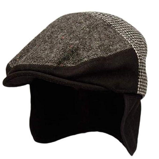 98e3e38a023b17 Epoch hats 100% Wool Herringbone Winter Ivy Cabbie Hat w/Fleece Earflaps -  Driving