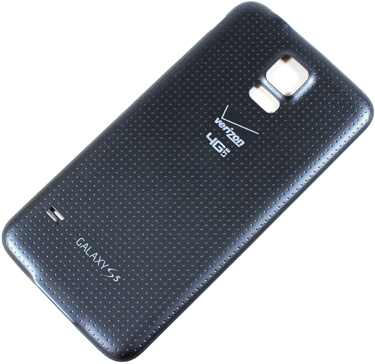 OEM Samsung Galaxy S5 SM-G900 Battery Door Back Cover Replacement - Charcoal Black (Samsung Logo)