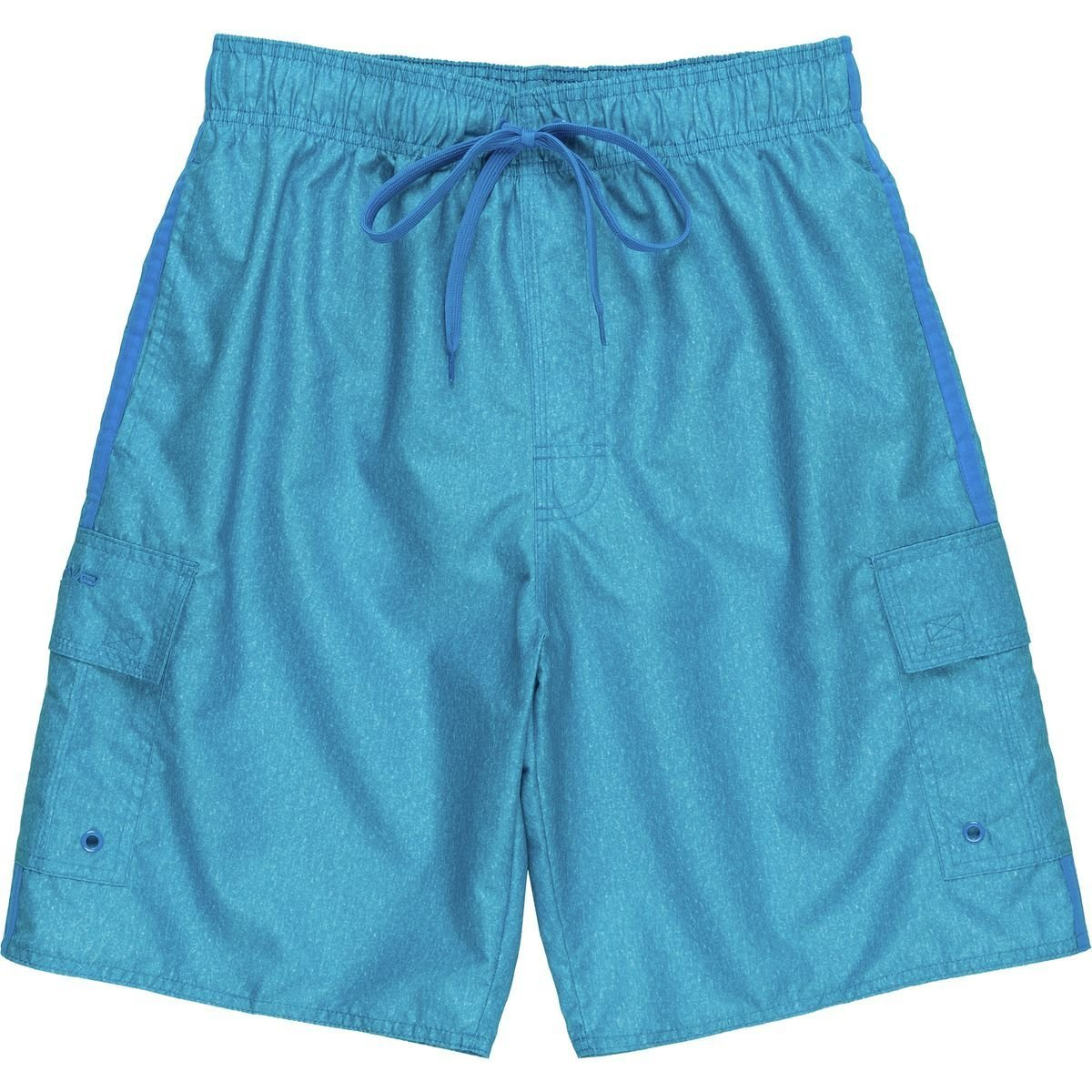 2846668ab11ef LAGUNA Mens Locked-in Elastic Waistband Bathing Shorts with Lace-up  Drawstring in Ocean Blue, Size M
