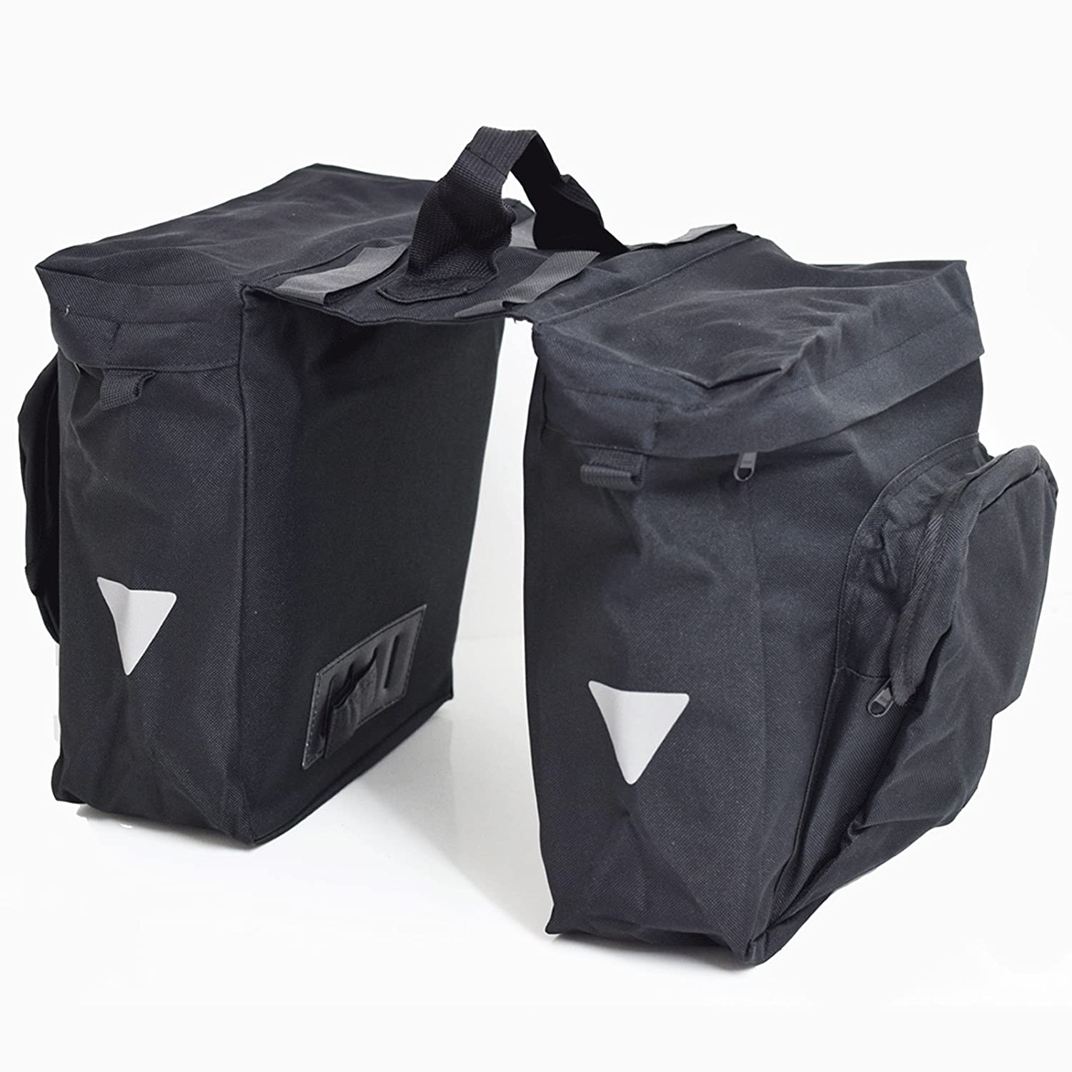 ETC 600D DOUBLE BICYCLE PANNIER WITH CARRY HANDLE