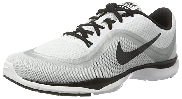 NIKE Womens Flex Trainer 6 Running Trainers 831217 Sneakers Shoes (UK 3 US 5.5 EU 36, White Black Platinum 102)