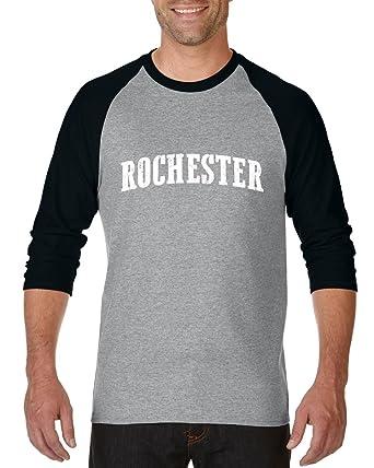 Rochester NY New York City Hotels Map Tickets Brooklyn Manhattan Raglan Sleeve Baseball T-Shirt