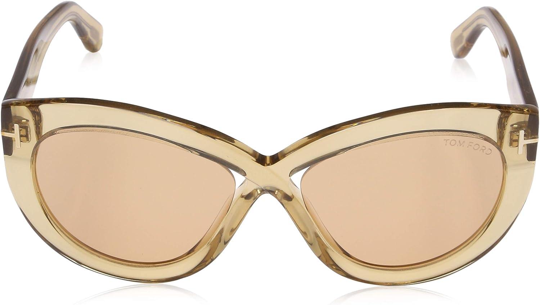 Tom Ford Unisex Adults/' FT0577 45E 56 Sunglasses Brown Chiaro Luc//Marrone