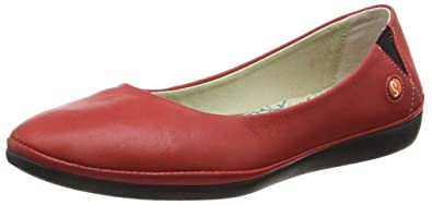 84643fe3b6599 Softinos Women's Dalila Ballet Flats, (Red), 4 UK: Amazon.co.uk ...