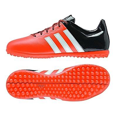 info for 4b2ae f92f9 adidas Ace 15.3 TF J Leather - Botas para niño, Color Naranja Blanco Negro,  Talla 32  Amazon.es  Zapatos y complementos