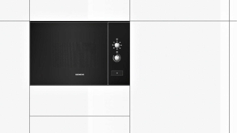 Siemens HF12G764 Integrado 20L 800W Negro - Microondas (Integrado, 20 L, 800 W, Botones, Giratorio, Negro, 1000 W): Amazon.es: Hogar