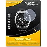 3 x SWIDO Diamond Clear Pellicola protettiva per LG Watch Urbane LTE - Protezione cristallina e resistente per il display! QUALITA' PREMIUM - Made in Germany