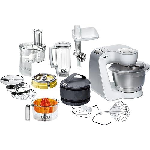 Bosch MUM54251 - Robot de cocina con cuenco de mezclar de acero y accesorios, 900