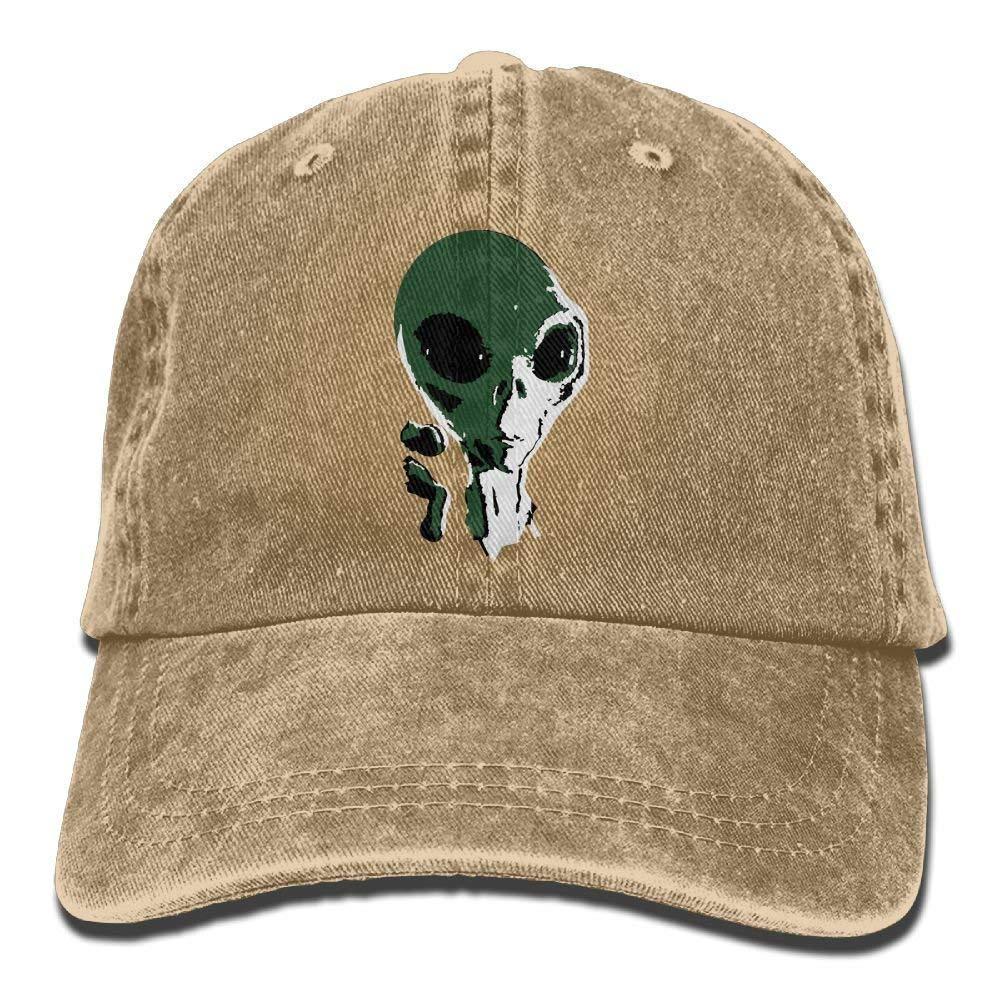 JTRVW Scary Grey Alien Denim Hat Adjustable Womens Dad Baseball Caps