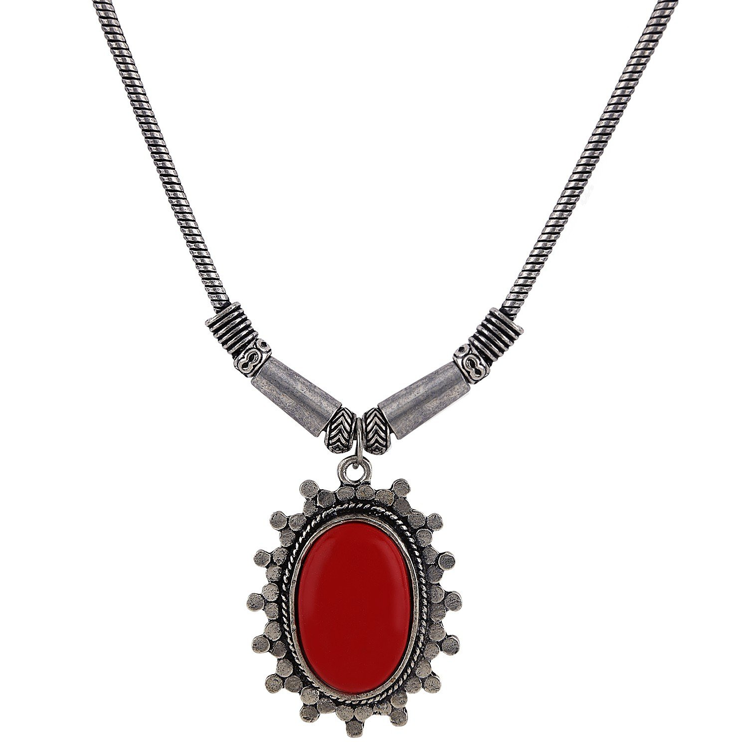 Efulgenz Indian Vintage Retro Ethnic Gypsy Oxidized Tone Boho Necklace Jewellery for Girls and Women