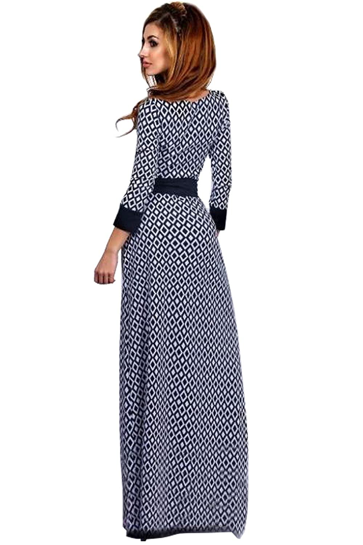 35b39e73c6d Muslim women Tunic Dress maxi abaya islamic women dress casual plaid print  casual slim kaftan caftan moroccan floor-length gown: Amazon.co.uk: Clothing