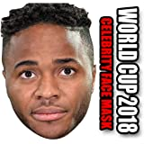 Foxy Printing England Facemasks RAHEEM STERLING - ENGLAND WORLD CUP 2018 FOOTBALL FACEMASK PARTY FACE MASK FANCY DRESS CARDBOARD FACE MASK
