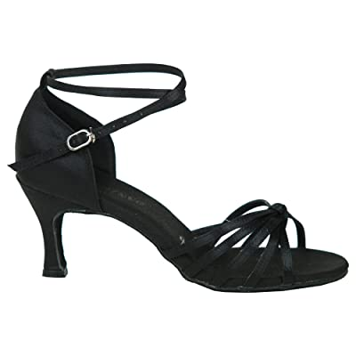 Danzcue Women's Satin Ballroom Dance Shoes | Ballet & Dance