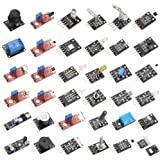 HiLetgo 37 Sensors Assortment Kit 37 Sensors Kit Sensor Starter Kit for Arduino Raspberry pi Sensor kit 37 in 1 Robot Project