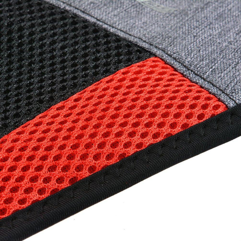 Cubierta para absorber el sudor de RockBros color negro y rojo