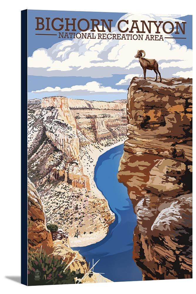 Bighorn Canyon Nationalレクリエーションエリア、ワイオミング州 – Canyon View 16 x 24 Gallery Canvas LANT-3P-SC-77118-16x24 B01K7YSSPM  16 x 24 Gallery Canvas