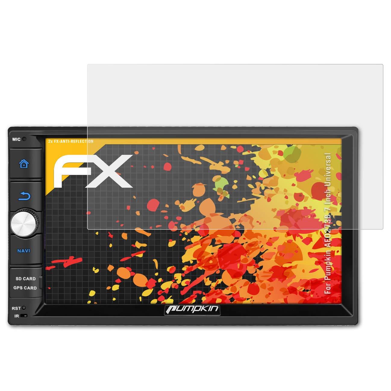 atFoliX Panzerfolie kompatibel mit Pumpkin AE0273B 7 Inch Universal Schutzfolie entspiegelnde und sto/ßd/ämpfende FX Folie 2X
