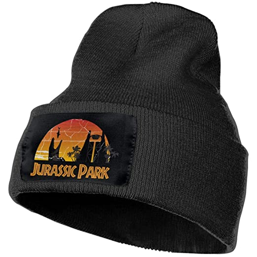 3722a4a0006a0 Image Unavailable. Image not available for. Color  SmallHan Mens   Womens Jurassic  Park World Skull Beanie Hats Winter Knitted ...