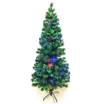 signstek 8ft artificial fiber optic christmas tree 300 multicolor change led light decor - 8 Ft Artificial Christmas Tree