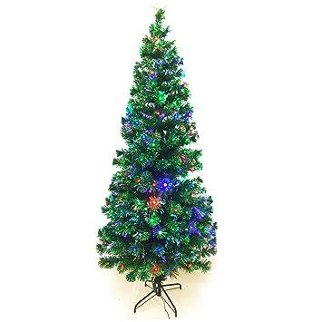 Signstek 8FT Artificial Fiber Optic Christmas Tree 300 Multicolor Change  LED Light Decor - Amazon.com: Signstek 8FT Artificial Fiber Optic Christmas Tree 300