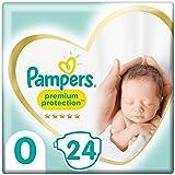 Pampers Maat 0 Luiers (<3 kg), Premium Protection, 24 Stuks, Onze N°1 Voor Comfort En Bescherming Van De Gevoelige Huid