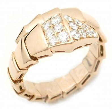 cd4bec9bc014 [ブルガリ] BVLGARI セルペンティ スネーク リング 指輪 K18PG 750 PG ピンクゴールド パヴェダイヤ ダイヤモンド