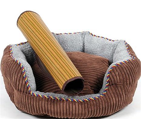 STAZSX Teddy kennel sofá cama de perro lavable Golden Retriever pequeño medio grande perro gato arena