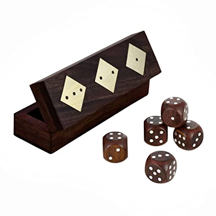 Amazon Com Good Friday Deals Wooden Dice Box Storage Case Container