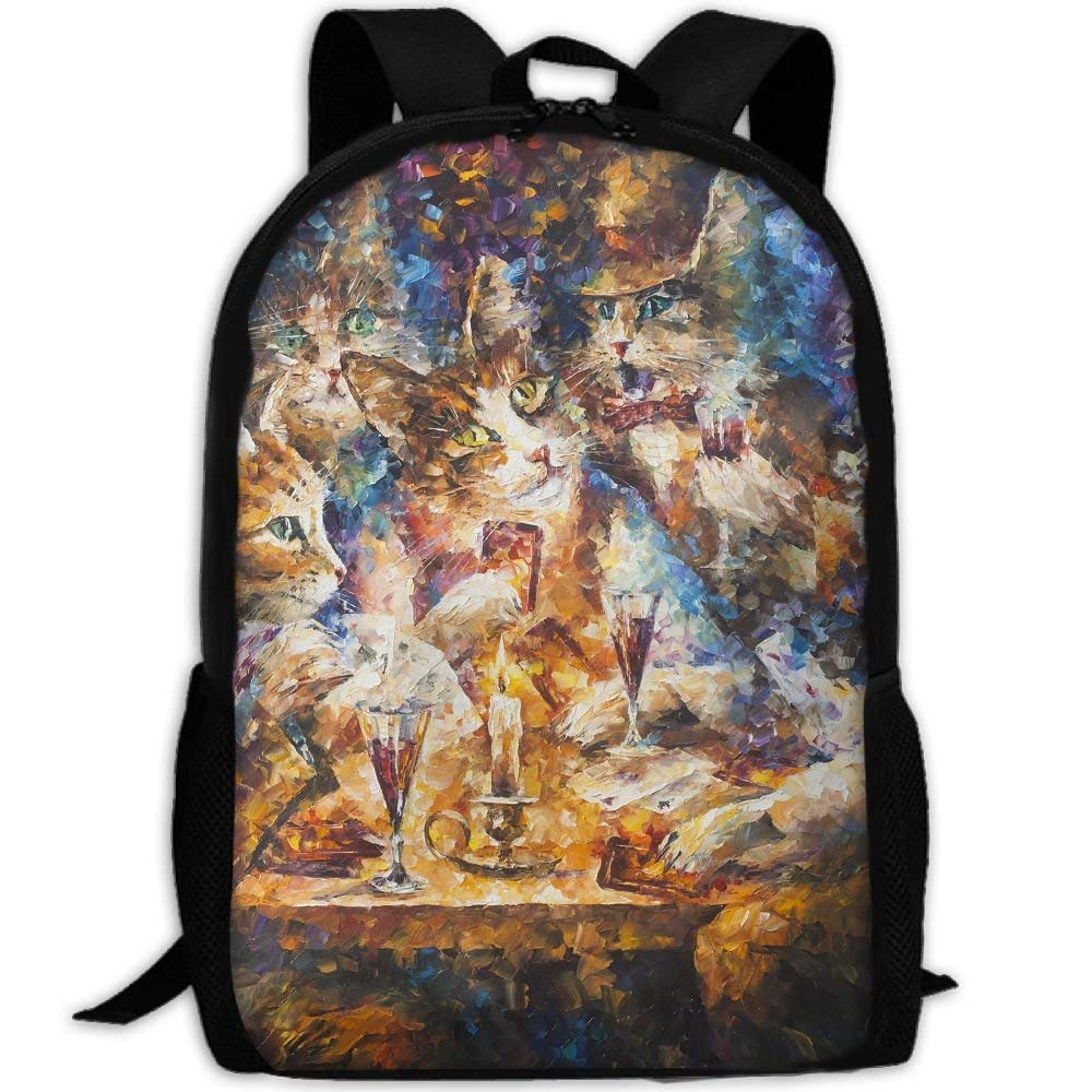 3c22c95e50ad Amazon.com: Adult Travel Hiking Laptop Backpack Cats Family Painting ...