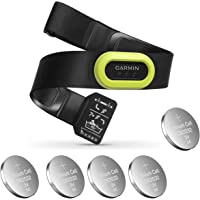 Garmin HRM-Pro, Premium Heart Rate Strap, Real-Time Heart Rate Data and Running Dynamics Black Bundle with 5 Extra…