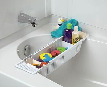 Wonderful KidCo Bath Toy Organizer Storage Basket, White