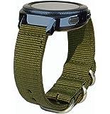Garmin Vivoactive 3 Strap, 20mm Watch Strap Quick Release Vivoactive 3 Strap Nylon Nato Band Soft Replacement Wristband for Garmin Vivoactive 3 / Gear Sport SM-R600 / Ticwatch E Smartwatch (Nato Nylon - Army Green)