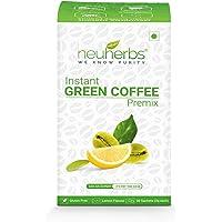 Neuherbs® Instant Green Coffee Premix with Lemon Flavour for Weight Management (30 Sachet), Each 3g