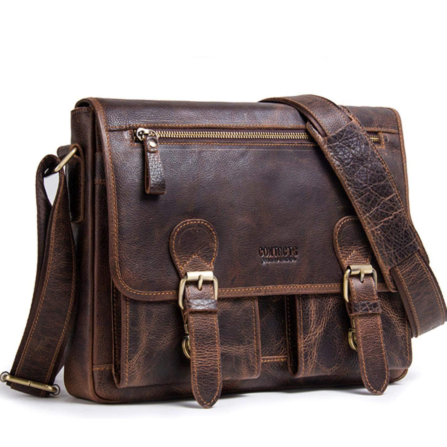 Men Men Briefcase Genuine Leather Man Shoulder Shoulder handbags