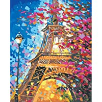 DIY Painting by Numbers for Adults, Paint by Number Kit On Canvas for Painting Lovers, Gift Package from SEASON (Eiffel…